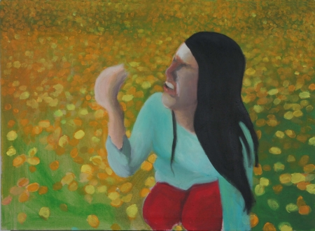 Alergie III, 70 x 100 cm, akryl na plátně