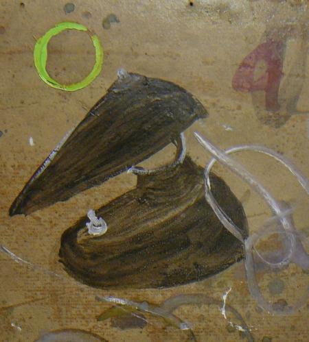 Lampička, 20 x 20 cm, akryl na sololitu, 2009