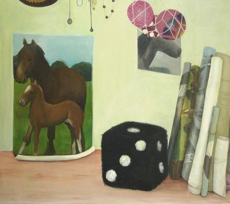 Bazar paměti VII, 150 x 170 cm, akryl na plátně, 2009