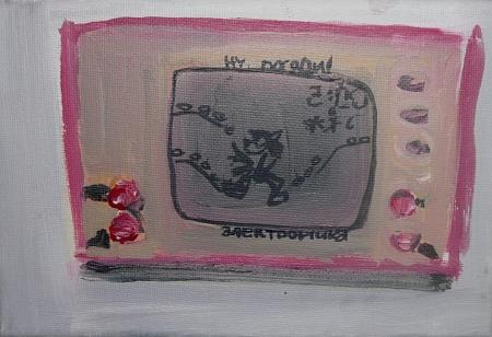 Vlk, 18 x 25 cm, akryl na plátně, 2009