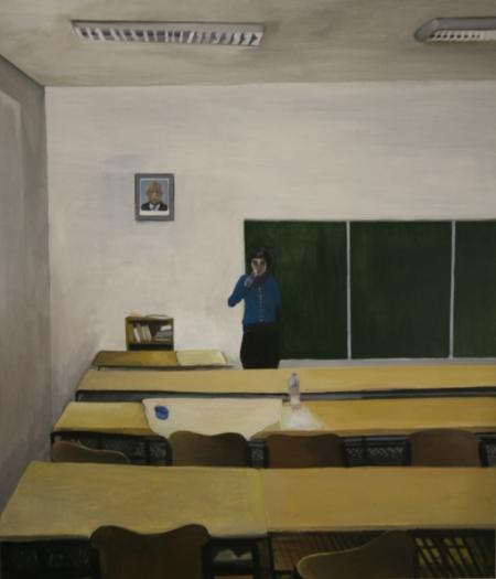 Gympl III, 170 x 150 cm, akryl na plátně, 2008
