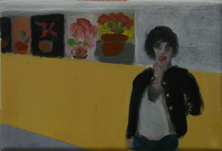 Gympl VII, 10 x 18 cm, akryl na plátně, 2008