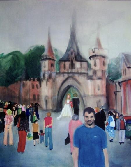 Hradec I, 100 x 80 cm, akryl na plátně, 2005