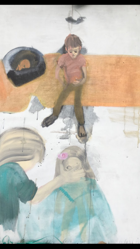 Doma,  x  cm, akryl na plátně, 2018