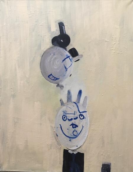 Oslava,  x  cm, akryl na plátně
