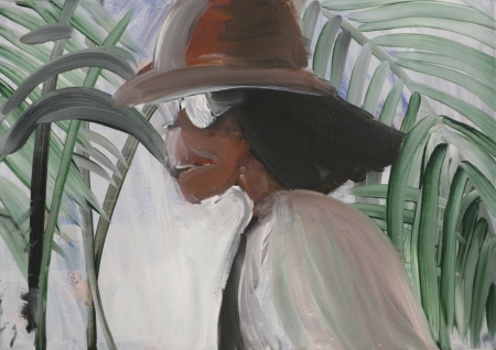 Bytové divadlo Šárky Zadákové - Jackson VI, 70 x 100 cm, akryl na plátně, 2011