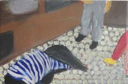 Jesus, 18 x 25 cm, akryl na plátně, 2009