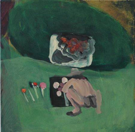 Kozín II, 20 x 20 cm, akryl na plátně, 2009