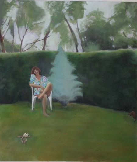 Kozín, 150 x 130 cm, akryl na plátně
