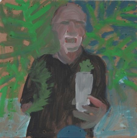 Větvička, 30 x 30 cm, akryl na sololitu, 2006