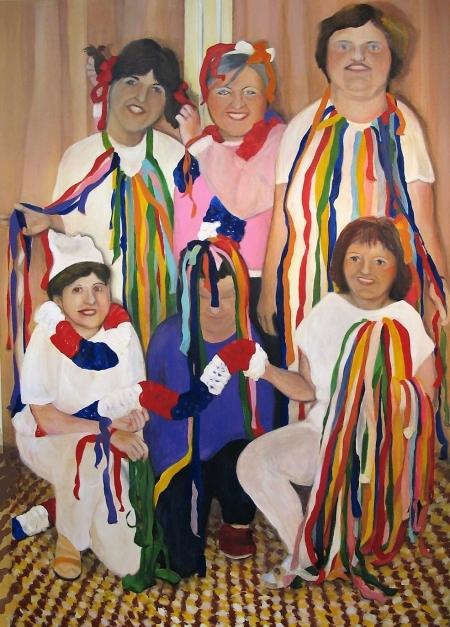 MŠ Jahůdka I, 240 x 180 cm, akryl na plátně, 2004