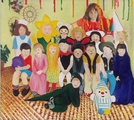 MŠ Jahůdka II, 180 x 200 cm, akryl na plátně, 2004, soukromá sbírka