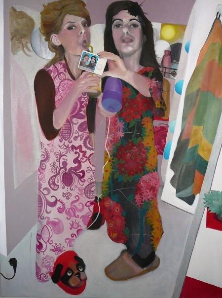 Nymfy, 170 x 140 cm, akryl na plátně, 2007