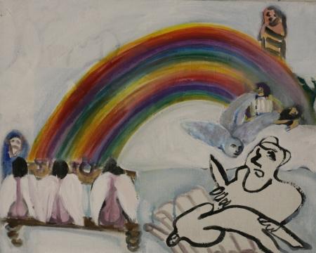 Duha (Z cyklu Otrok),  x  cm, akryl na plátně, 2007