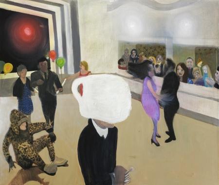 Ples II, 100 x 120 cm, akryl na plátně, 2017