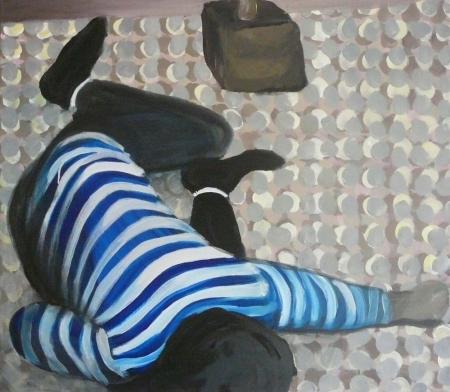 Pokání II, 70 x 80 cm, akryl na plátně, 2009, Galerie Felixe Jeneweina Kutná Hora
