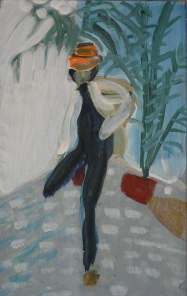 Jackson I, 40 x 25 cm, akryl na plátně, 2008, soukromá sbírka