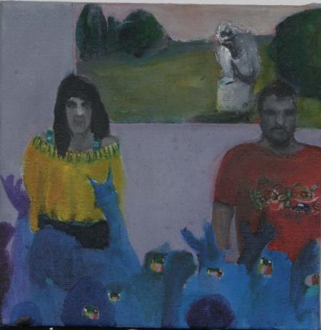 Superstar, 18 x 18 cm, akryl na plátně, 2006