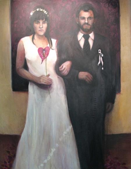 Svatba, 180 x 140 cm, akryl na plátně