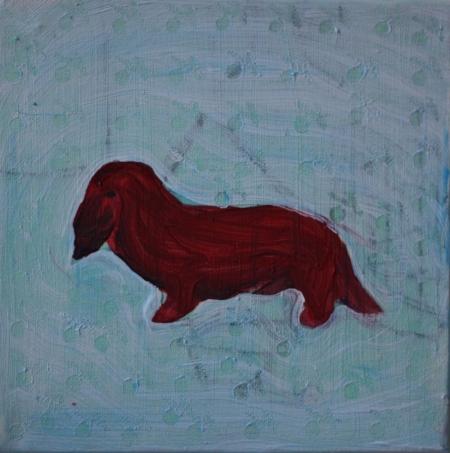 Vojtíšek, 20 x 20 cm, akryl na plátně, 2012