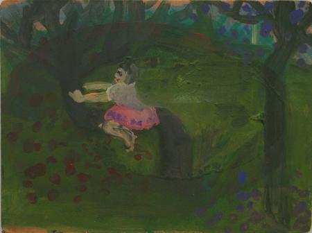 Zuzanka, 29 x 39 cm, akryl na plátně